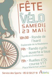 Fête du vélo à Auterive le Samedi 23 Mai 2015